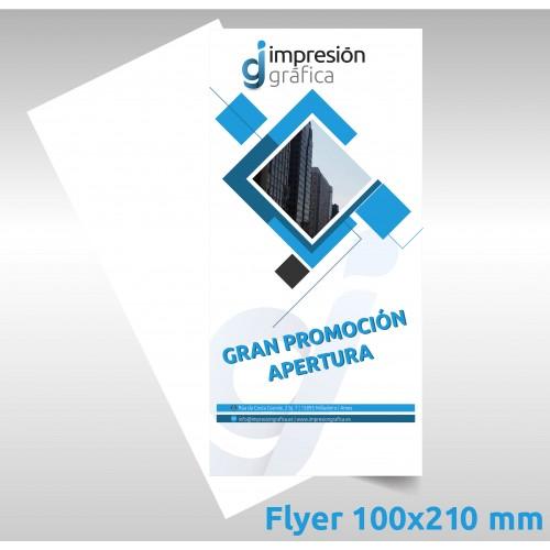 Flyer 10x21cm. a 1 cara