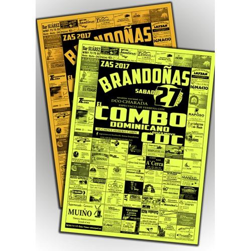 Carteles 50x70 papel fosforito