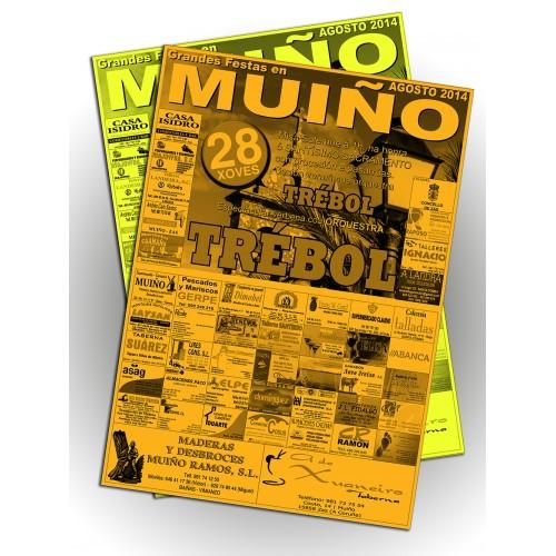 Carteles 70x100 1 tinta papel fosforito