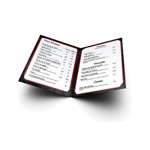 Carta menu restaurante