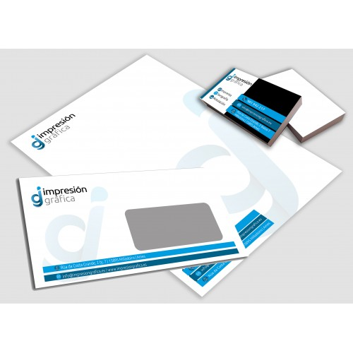 Pack Standard, tarjetas, sobres, papel A4 preimpreso